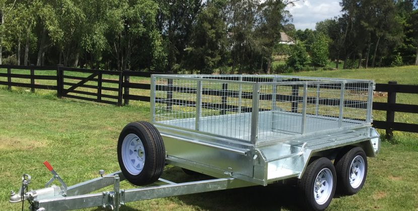 silver color tandem trailers