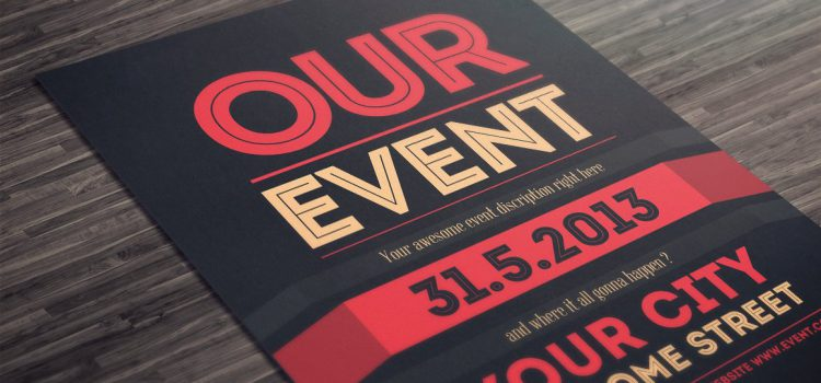 Flyer Advertising Good for Event Promotion