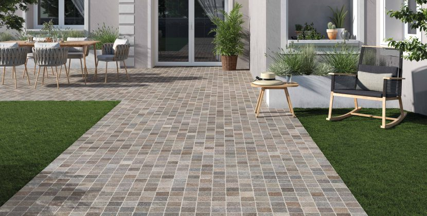 You can draw many concepts to your outdoor space with many cheap outdoor tiles that look good after the installation.
