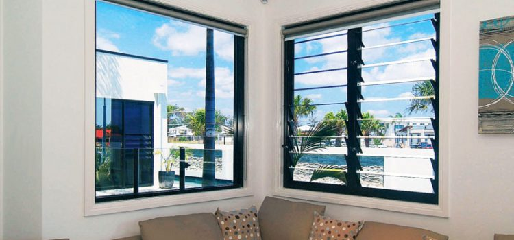 Why are glass Louvre windows popular in Australia?