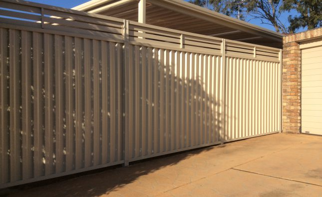 colorbond fencing Newcastle