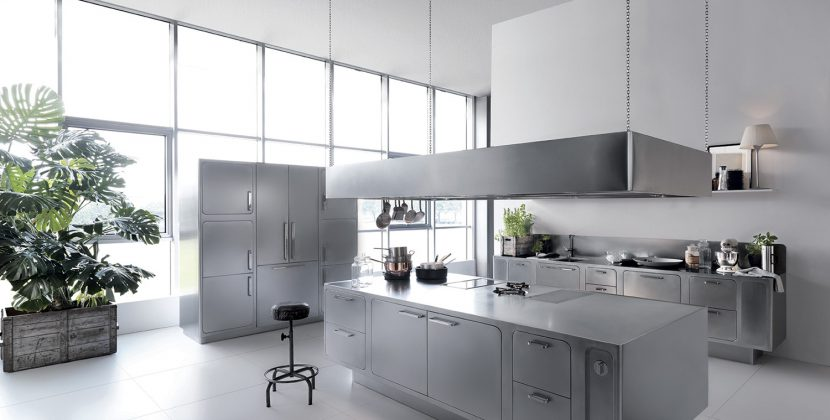 Domestic stainless steel kitchens