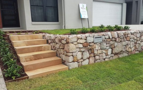 retaining walls in the castle hill