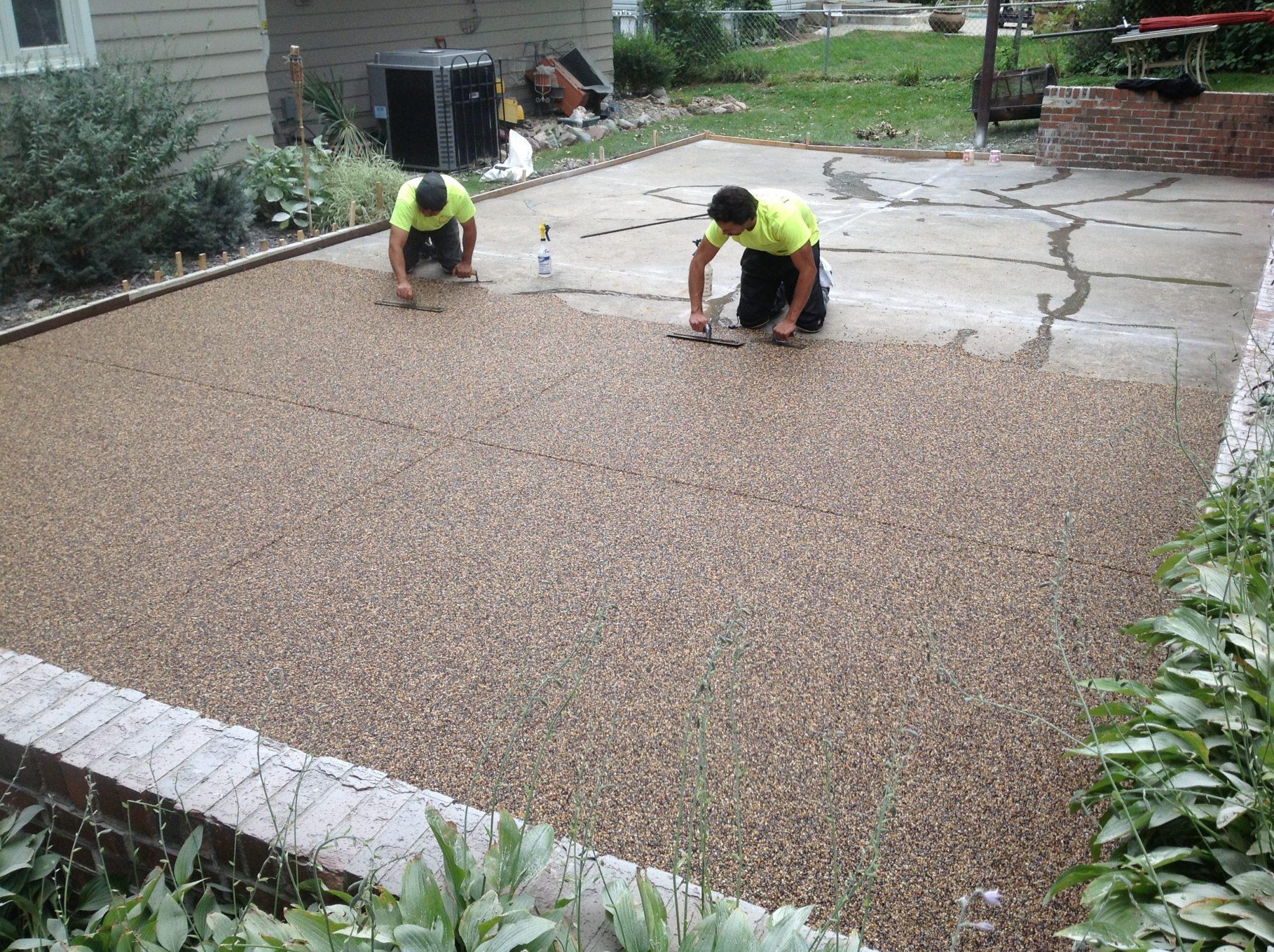 pebble paving epoxy