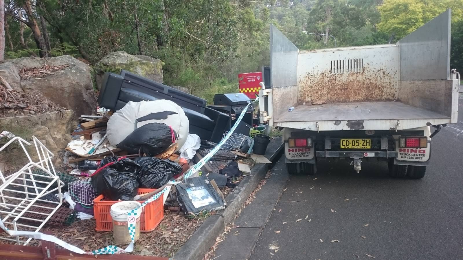 rubbish removal in Hills District